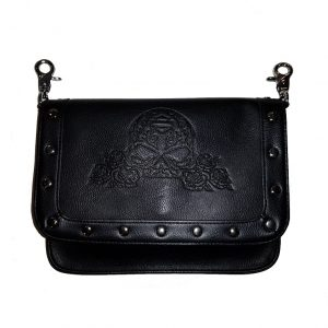 WOMEN'S ROSALITA EMOBOSSED SUGAR SKULL HIP BAG 15827