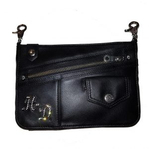 WOMEN'S BOWERY LEATHER HIP BAG STRAP, BLACK 16849