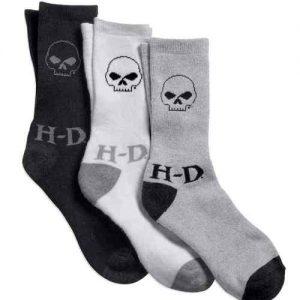 MEN'S HARLEY-DAVIDSON 3-PACK SKULL SOCKS 99404-16VM