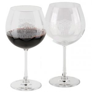 H-D™ WINTER TIRE TREAD WINE GLASS SET HDX-98711