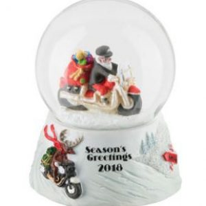 H-D Winter 2018 Biker Santa Mini Snowglobe