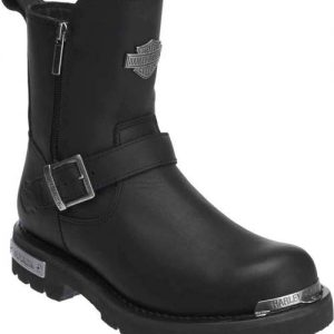 HARLEY-DAVIDSON® MEN'S STARTEX BLACK LEATHER MOTORCYCLE BOOTS  D96090