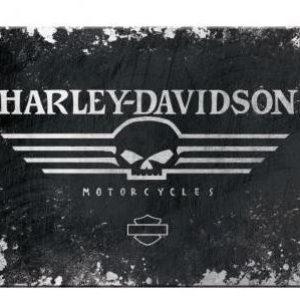 HARLEY-DAVIDSON SKULL MAGNEET  8 x 6 cm