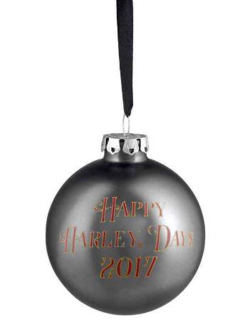 HARLEY-DAVIDSON® 2017 BIKER SANTA GLASS BALL ORNAMENT
