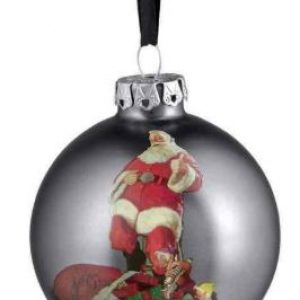 HARLEY-DAVIDSON® 2017 BIKER SANTA GLASS BALL ORNAMENT