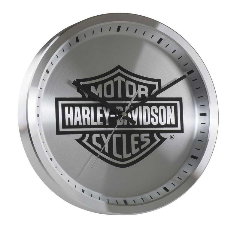HARLEY-DAVIDSON METAL CHROME B&S LOGO CLOCK 12 INCH HDX-99106